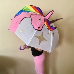 3D UNICORN KID's Foldable umbrella ☔️- nwot